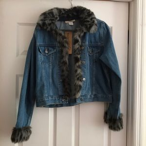 Painted Pony fur lined denim jacket.